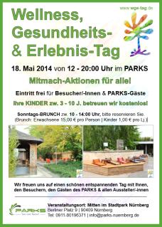 www.EventHirsch.com - www.WGE-Tag - Kooperation mit dem PARKS Nürnberg, in dessen Räumlichkeiten